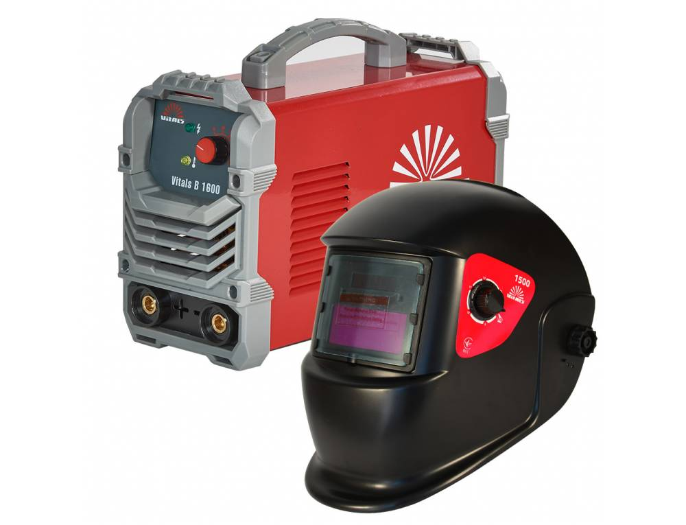 Комплект зварювальний апарат Vitals B 1600 + Маска Vitals 1500 (1+1)