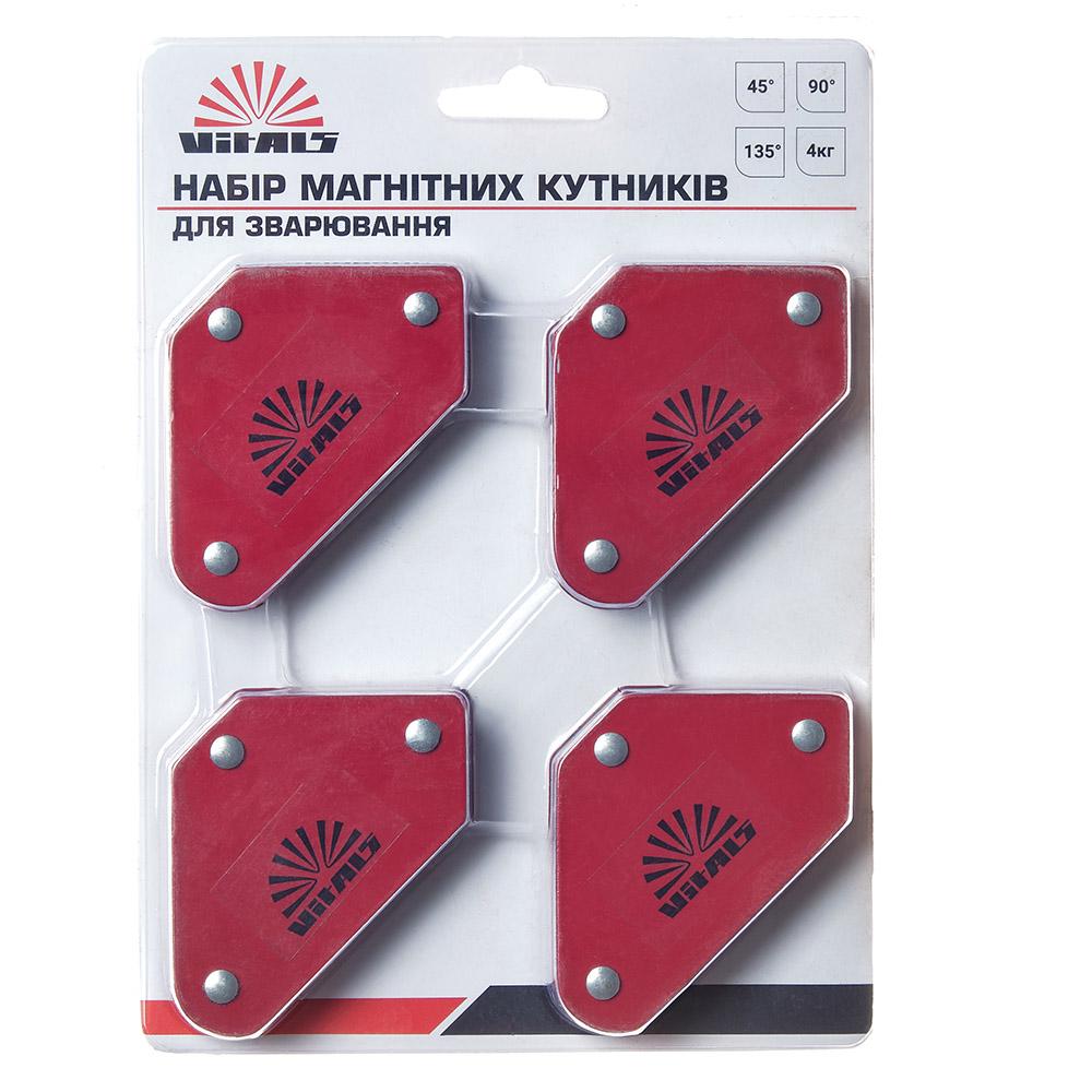 Купить Набір магнітних кутників для зварювання Стріла Vitals WMS 4шт