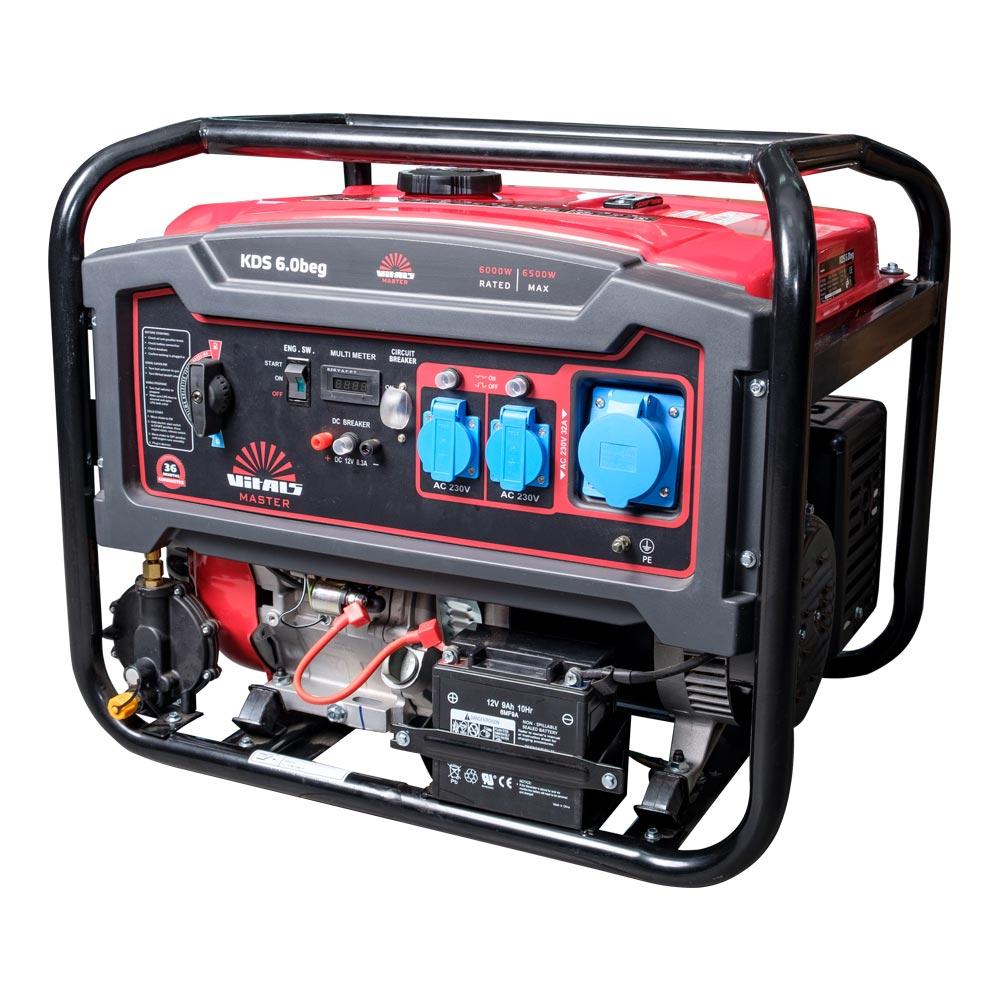 Генератор бензиновый Vitals KDS 6.0beg фото 3